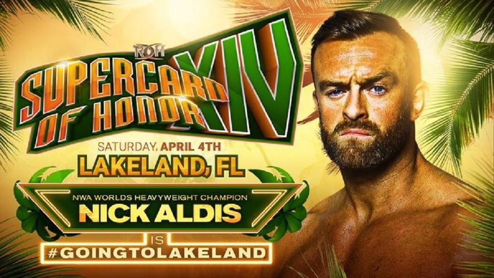 ROH anuncia Nick Aldis para o Supercard of Honor XIV