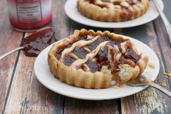 Strawberry Balsamic Vinegar Black Peppercorn Jam Tarts