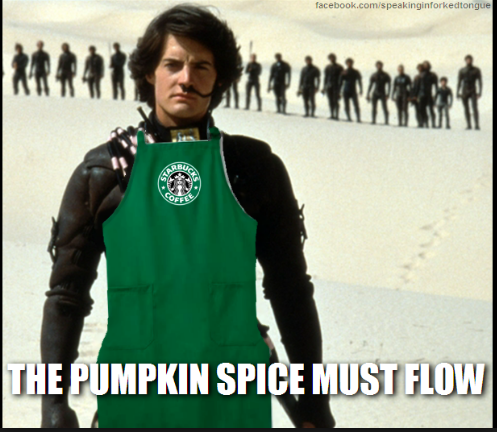 Hilarious autumn-themed pumpkin spice latte memes!  Celebrate the funny advent of fall! via Devastate Boredom