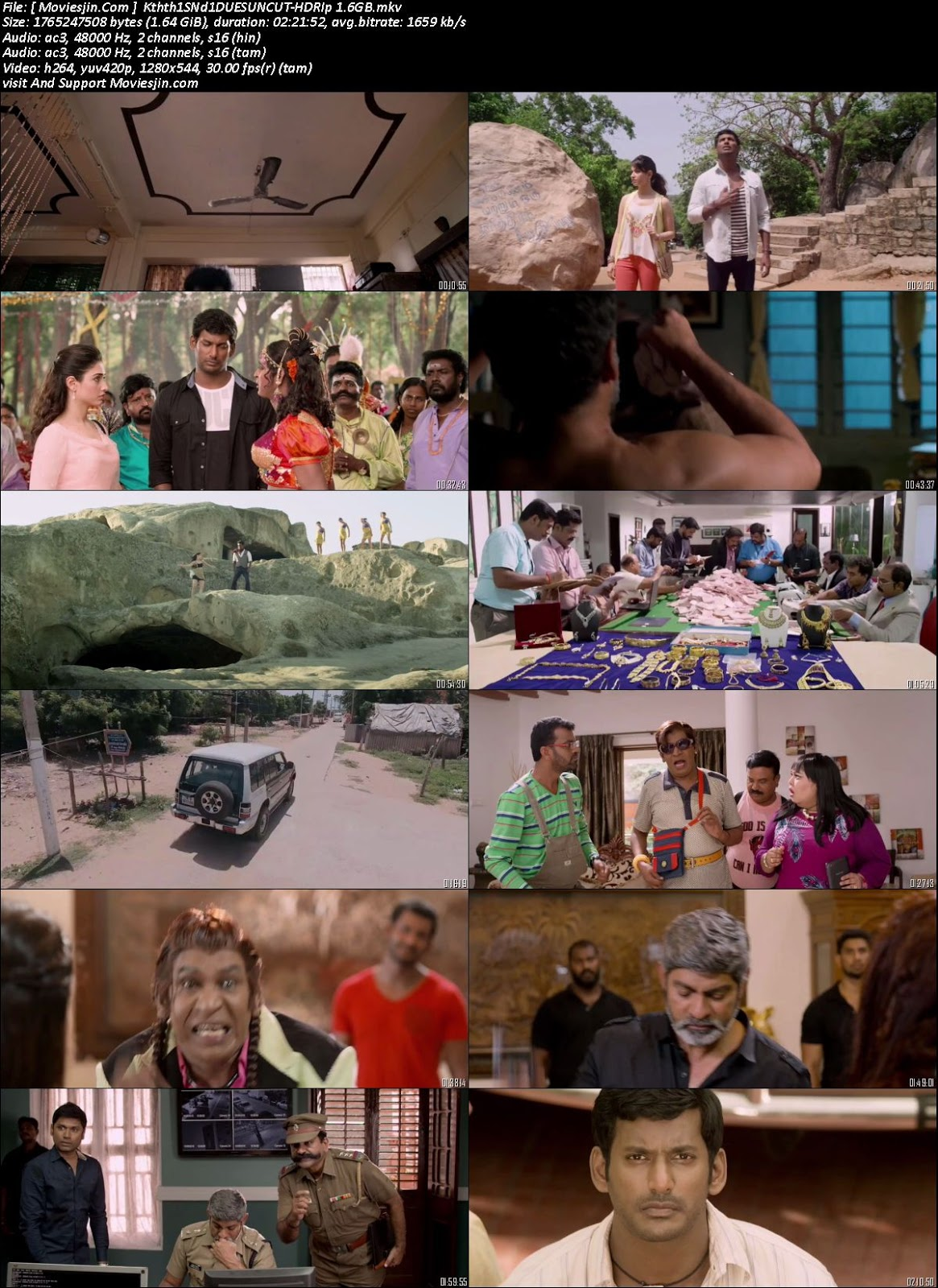 Watch Online Kaththi Sandai 2016 UNCUT Dual Audio Hindi Tamil 720p Full Movie Download Khatrimaza, free download 9xmovies,