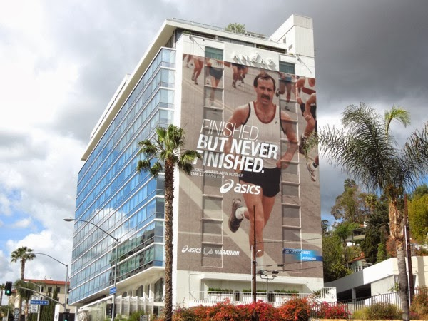 Finished never finished Asics LA Marathon 2014 billboard