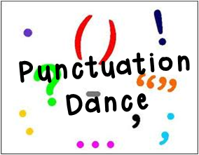 Punctuation Dance- an active, stand-up-and-move strategy for building reading fluency and teaching how to read punctuation!