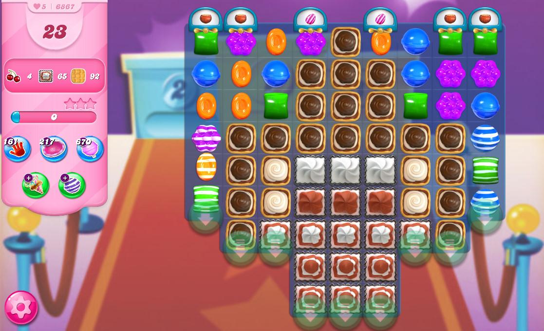 Candy Crush Saga level 6867