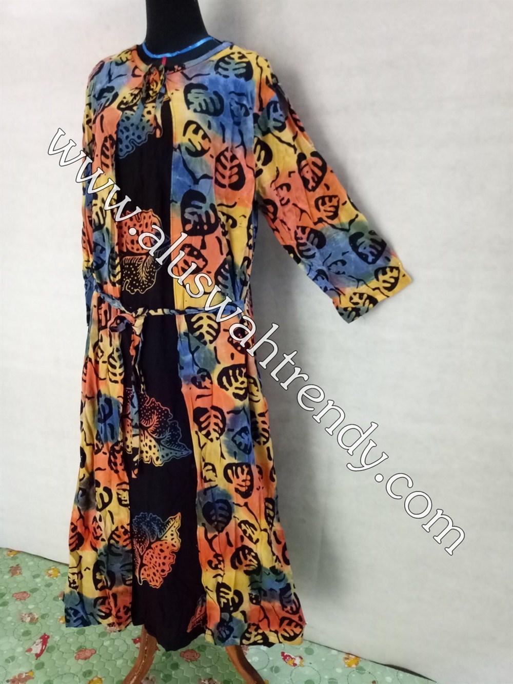 Gamis Batik 058 Bahan Rayon Super