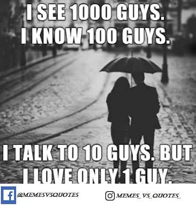 I love only one guy