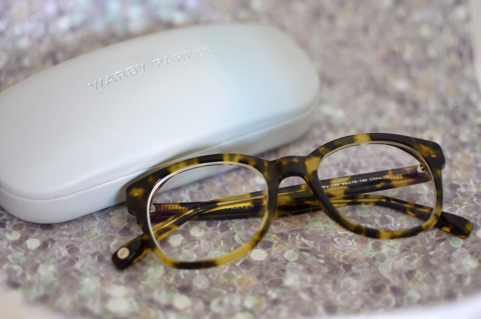 Warby Parker Mallory glasses in Gimlet Tortoise
