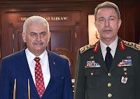 Prime Minister Binali Yıldırım - General Staff Gen. Hulusi Akar