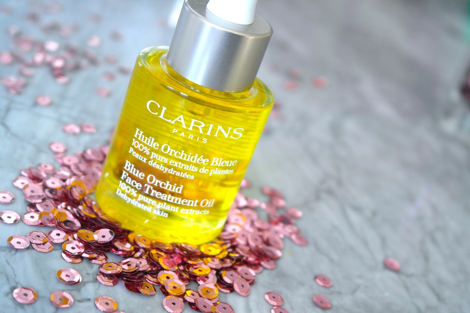 IRENE: Clarins blue orchid ingredients