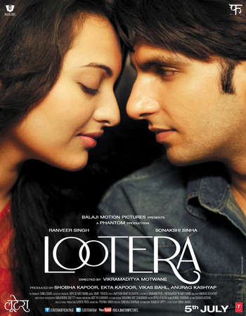 Poster Of Lootera 2013 Hindi 450MB HDRip 720p ESubs HEVC Watch Online Free Download Worldfree4u