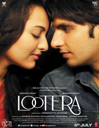 Poster Of Lootera 2013 Hindi 450MB HDRip 720p ESubs HEVC Watch Online Free Download Worldfree4u