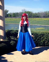 Ariel's Blue Sightseeing Dress Tutorial by Glitzy Geek Girl