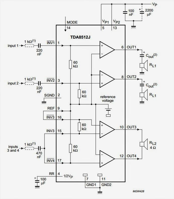 amplifiercircuitscom 3x150w audio power amplifier ic class ab
