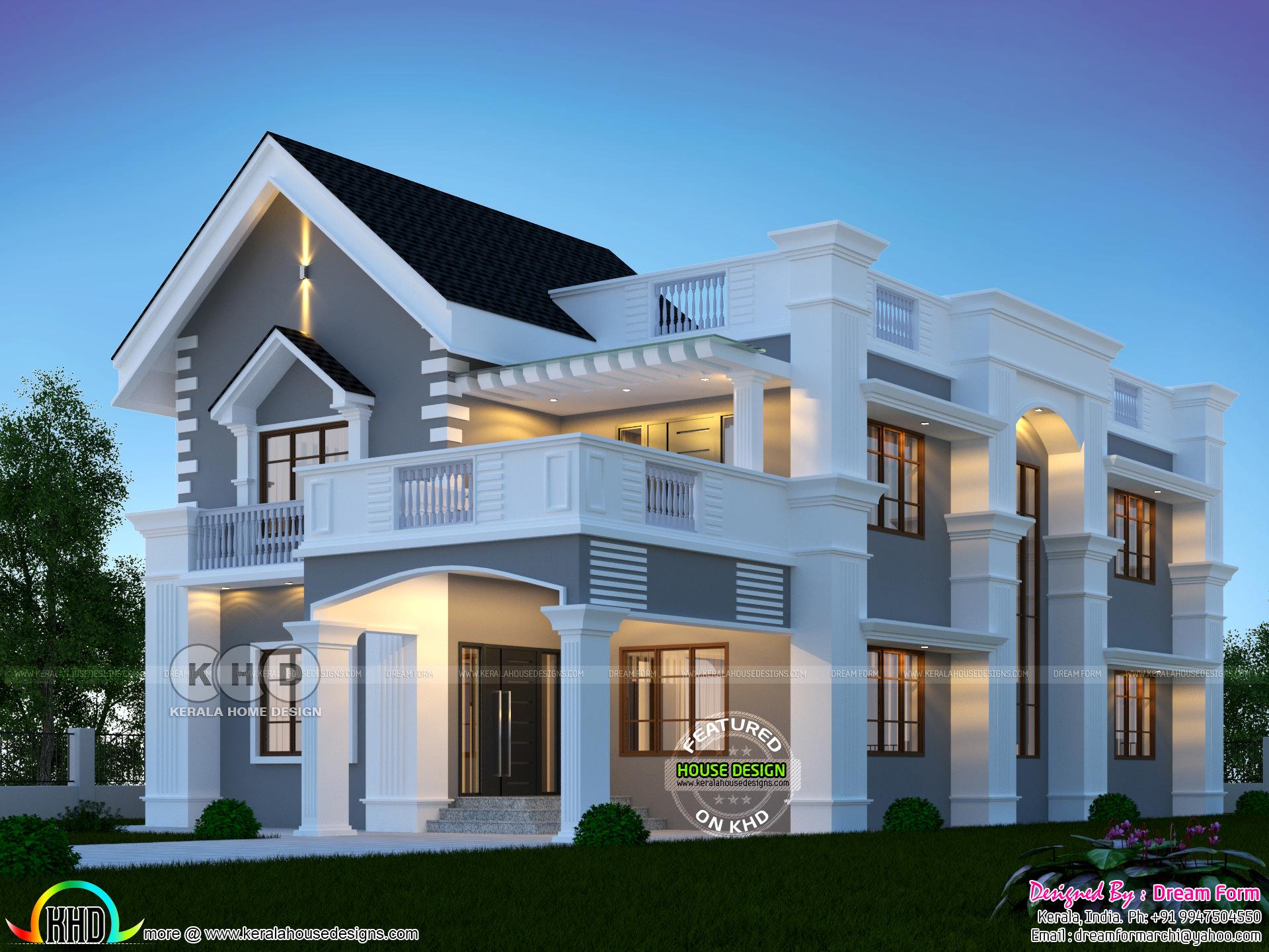 4 Bedroom Mixed Roof Grand Kerala Home Kerala Home Design Bloglovin