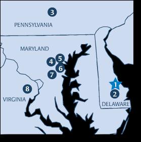 Contact Map - Delmarva Insulation