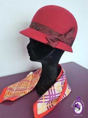Patouche Chapeaux cloche rétro 1920 feutre mérinos chapeau hiver
