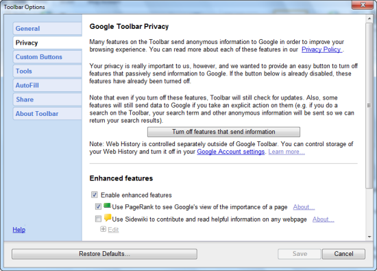 Google Toolbar 7 Adds Instant Search To Internet Explorer