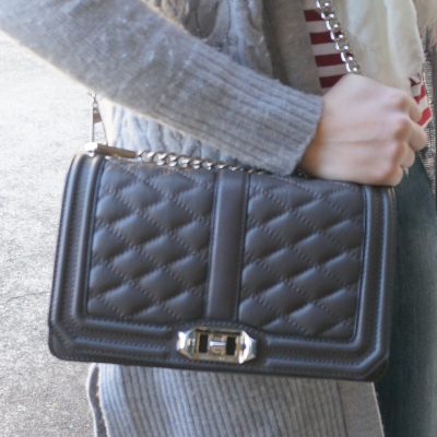 Rebecca Minkoff Love cross body bag in grey | AwayFromTheBlue
