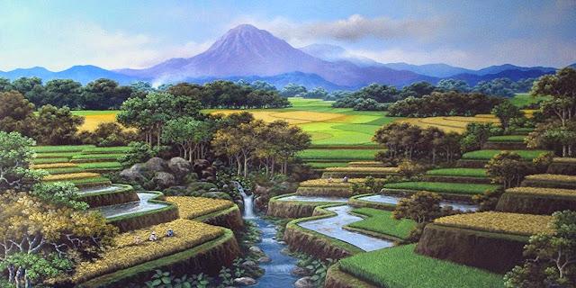 Lukisan Alam Pedesaan untuk Anda yang Rindu Suasana Desa