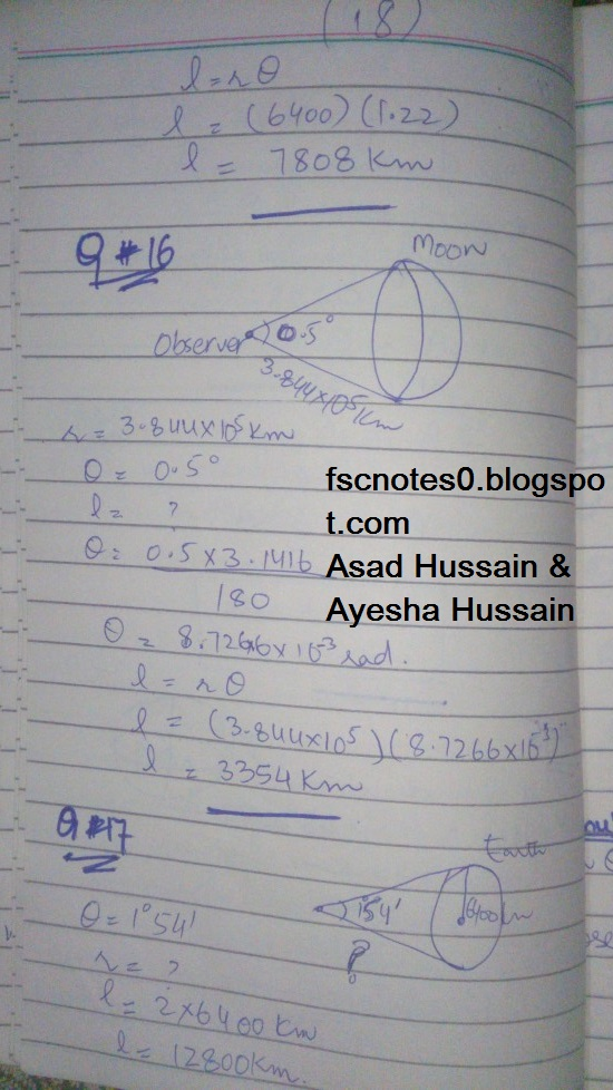 FSc ICS FA Notes Math Part 1 Chapter 9 Fundamentals of Trigonometry Exercise 9.1 Question 14 -17 by Asad Hussain & Ayesha Hussain 2