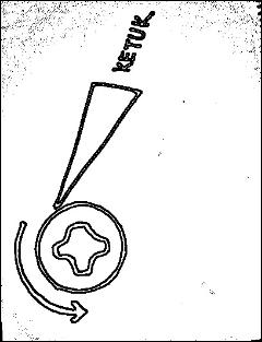 Gambar cara buka skru rosak