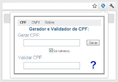 Gerador e Validador de CPF ou CNPJ