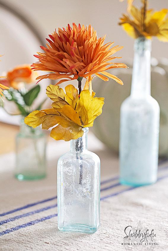 vintage aqua bottles