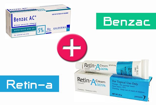 รักษาสิวด้วย benzac และ retin-a