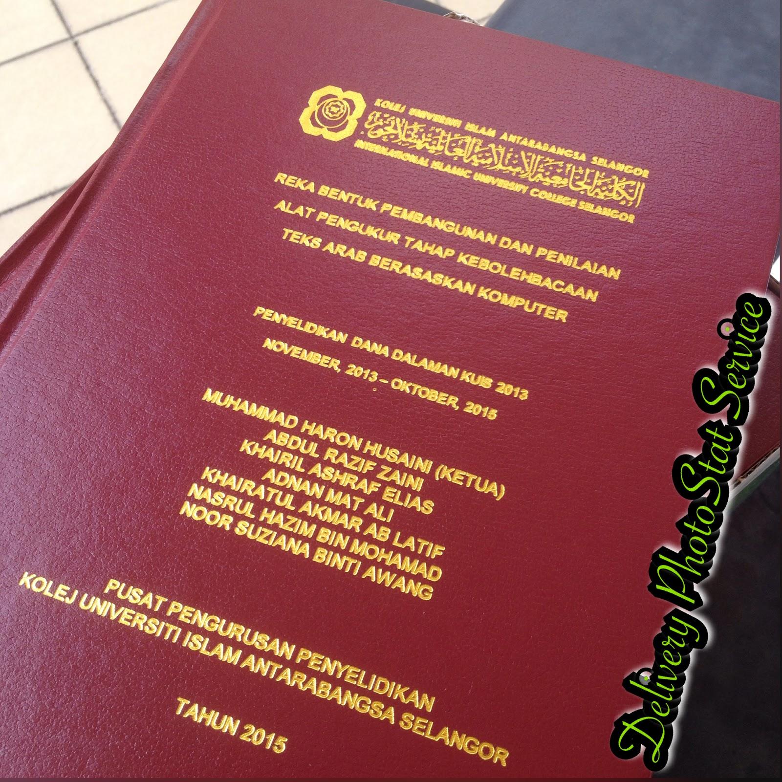 hardcover thesis murah bangi