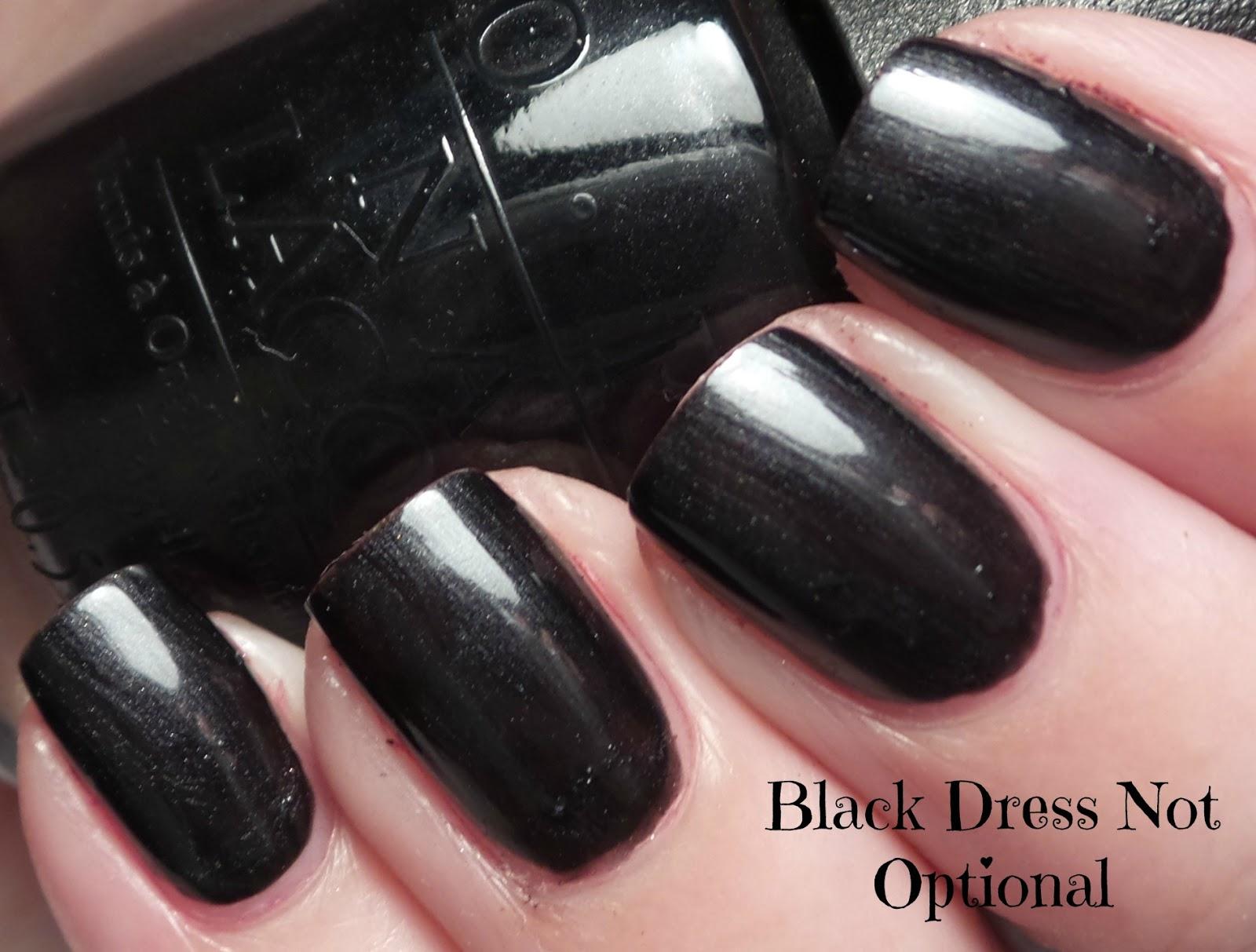 Black dress not optional opi 80