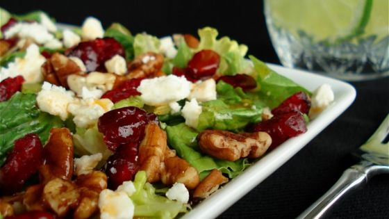 #CRANBERRY #PECAN #SALAD WITH #FETA #CHEESE