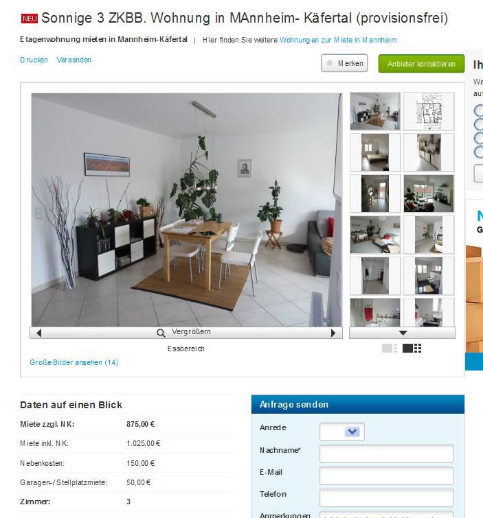 Ellgerstenberg At Gmailcom Sonnige 3 Zkbb Wohnung In Mannheim