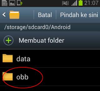 Cara Memasukan Data OBB di Game Android