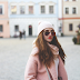 Pink coat and Zaful skirt