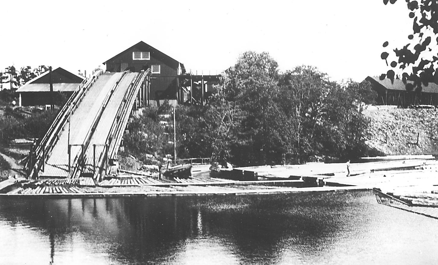 The sawmill at Brekke, shortly before production ceased.