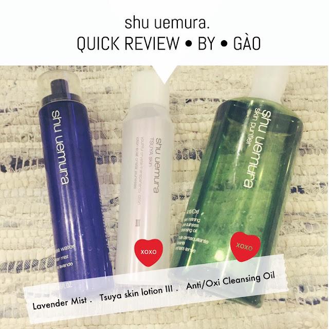 gào, vũ phương thanh, shu uemura, mỹ phẩm nhật bản, mỹ phẩm shu uemua, review mỹ phẩm, dầu tẩy trang