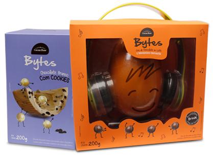 ovos de chocolate bytes para crianças Cacau Show Páscoa