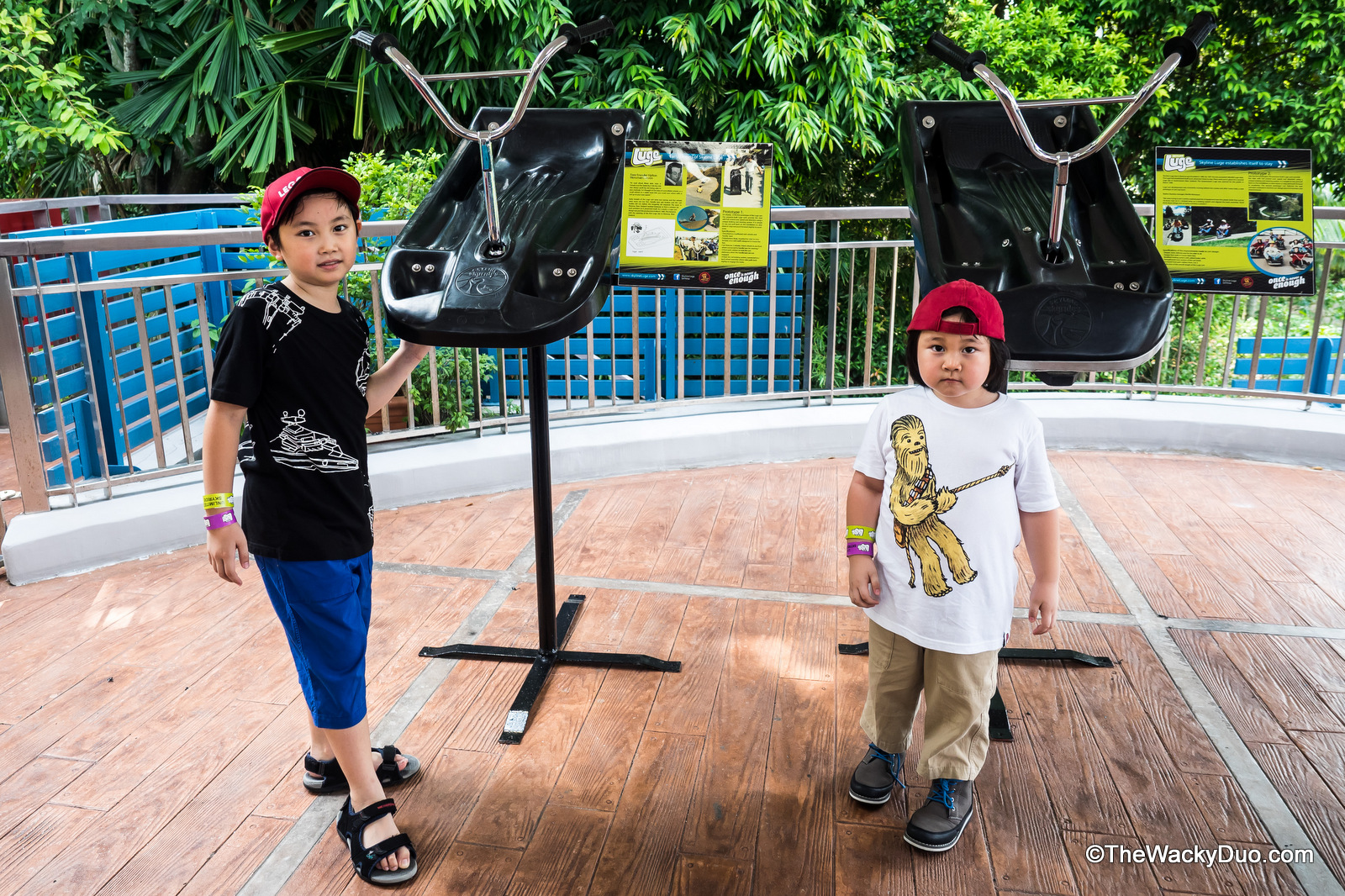 Skyline Luge Sentosa 10 Tastic Ways To Celebrate The Wacky Duo Ampamp Singapore 2x Favourite Look Bermudas And T Shirts