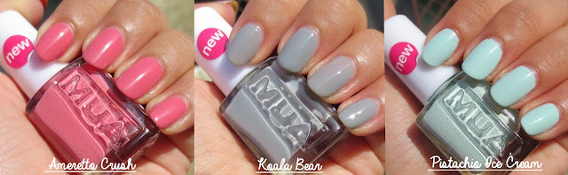 MUA Amaretto Crush Koala Bear Pistachio Ice Cream Swatch