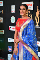 Priya Shree in Beautiful Blue Saree at IIFA Utsavam Awards 2017  Day 2    HD Exclusive Pics 22.JPG