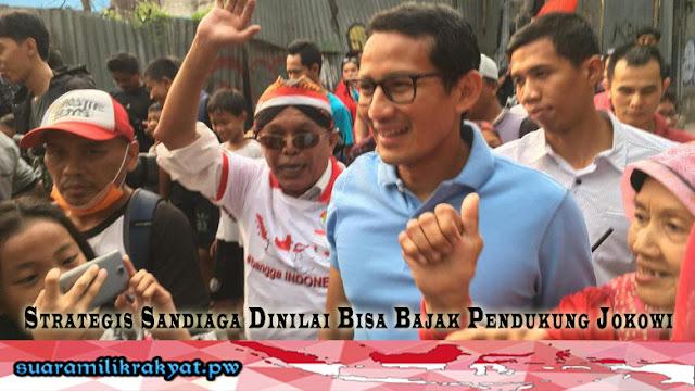 Strategis Sandiaga Dinilai Bisa Bajak Pendukung Jokowi