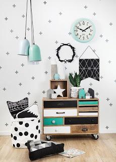 vinilos decorativos estrellas, corazones, circulos, triangulos, cruces, nordico, escandinavo, nubes, infantil