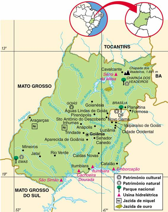 Goiás | Mapas Geográficos de Goiás