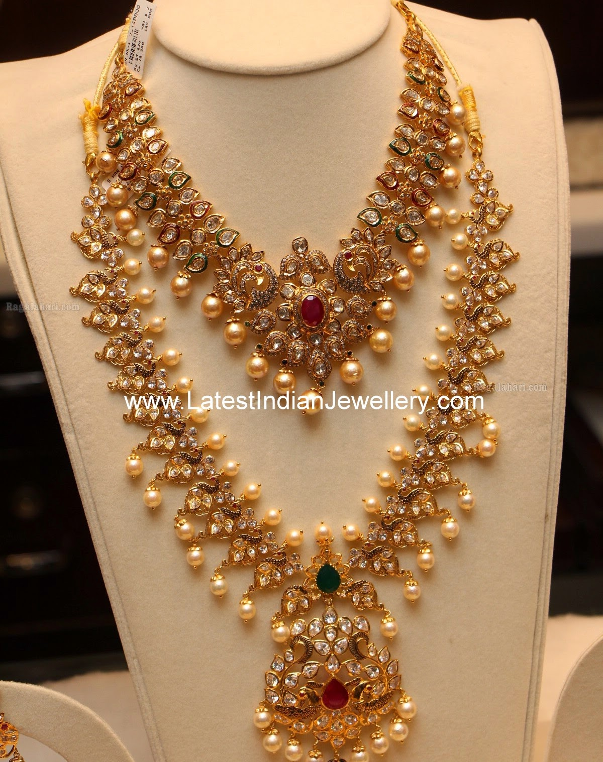 Pachi Work Necklace Haram Set Latest Indian Jewellery