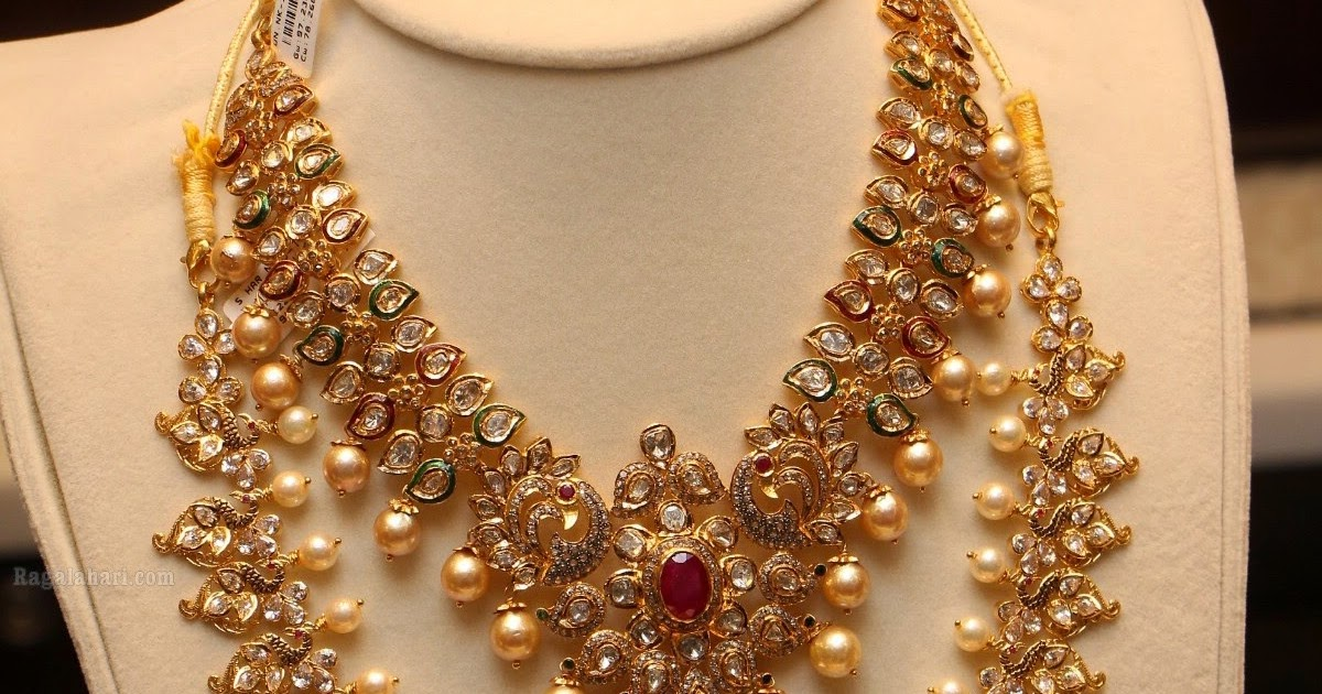 Pachi Work Necklace Haram Set