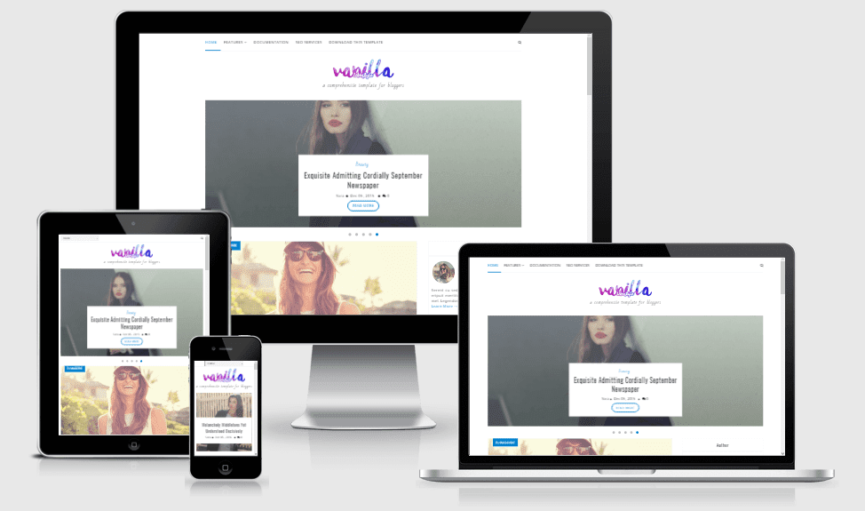 Vanilla - Responsive Lifestyle Blogger Template