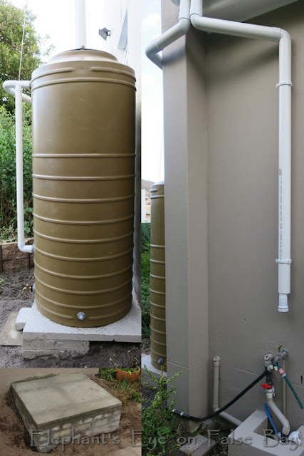 Rain water tank with first flush diverter