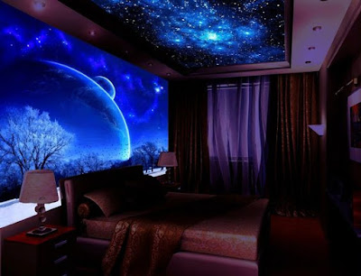 3D LED wallpaper for walls and ceiling