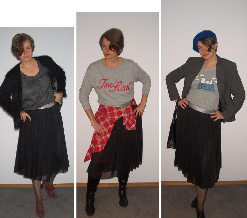 Tüllrock Outfits für große Frauen über 40