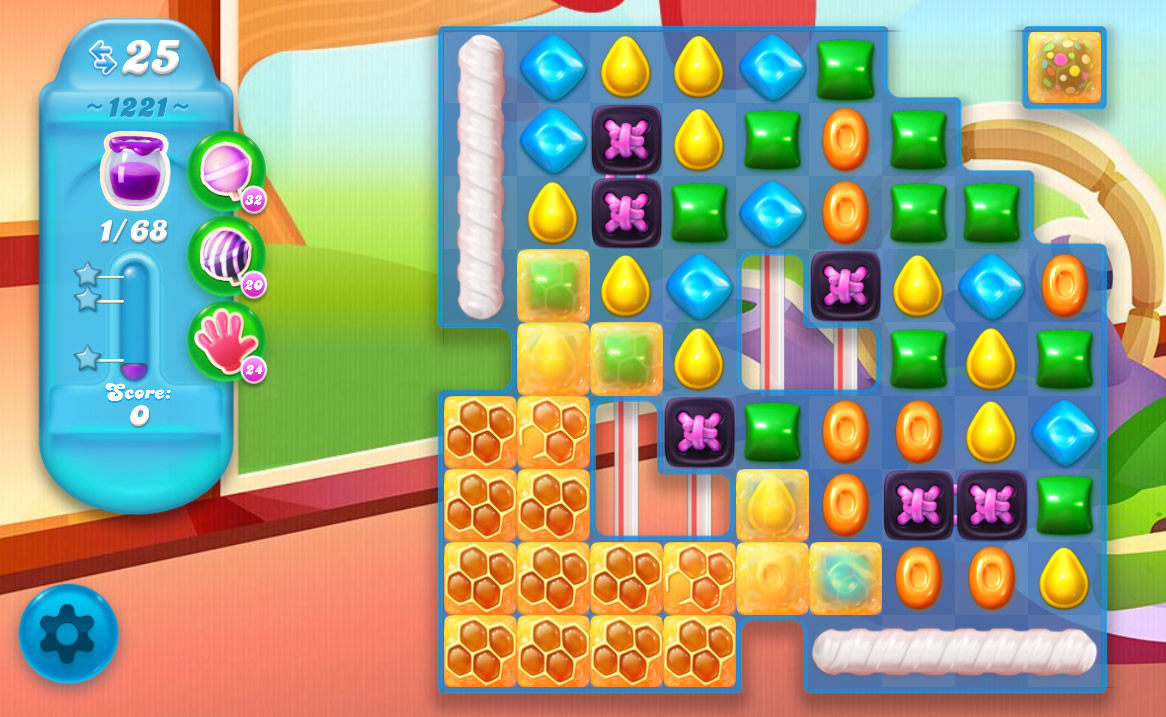 Candy Crush Soda Saga level 1221