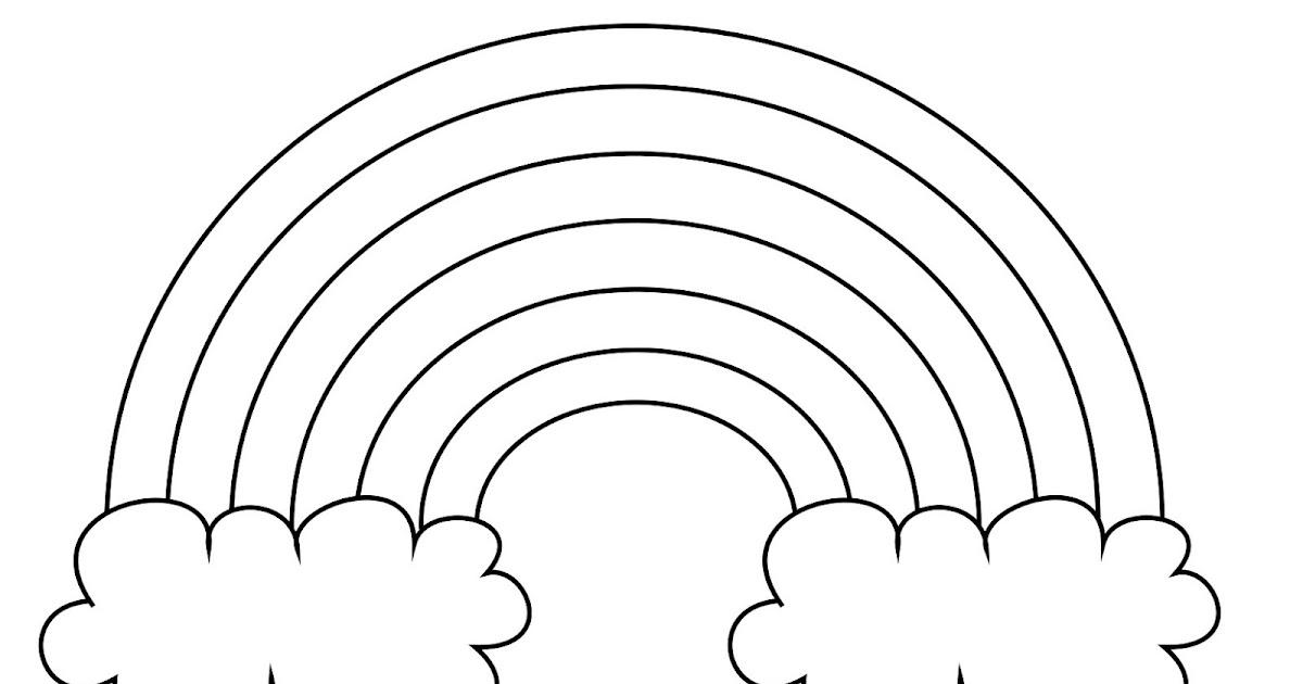 Dessins Et Coloriages: Page De Coloriage Grand Format Pour Enfants à Imprimer : Un Arc-en-ciel